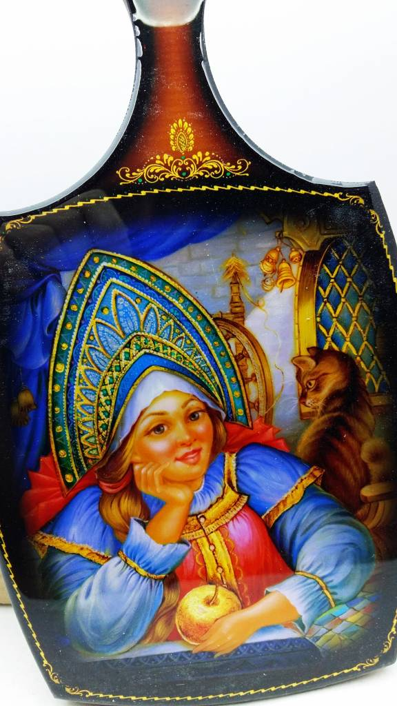 Matryoshka Lalka rosyjski deco deska do krojenia 28 cm