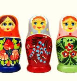 Matrioska (3) rosyjski Boneca 7-8cm