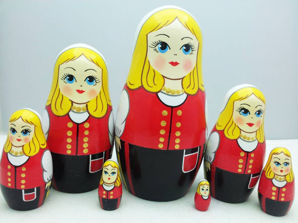 Matrioska (7) rosyjski Boneca 15-17 cm Disney