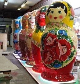 SPLENDOR Mega boneca Russa- matrioscas  grandes pintadas à mão