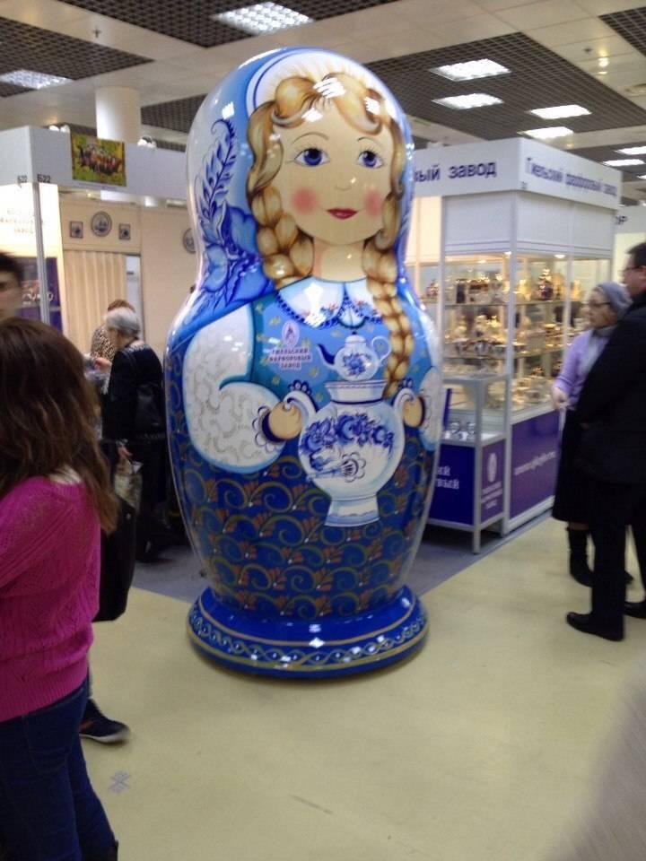 SPLENDOR Stor russisk dukke   0,80 - 1,20 -1,60-2,40 og 3,0 meter høj