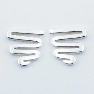 Aparte zilveren oorbellen