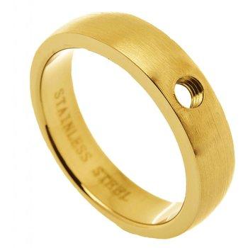Ohlala Geelgoud vergulde ring, mat