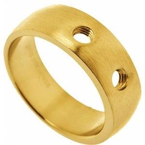Ohlala Verwisselbare ring, staal, geelgoud verguld