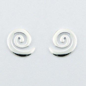 Zilveren spiraaltjes oorbellen