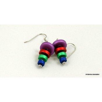 Mooi sieraden Kleurige oorbellen van MOOI sieraden