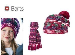 Barts Meisjesmuts en sjawl model Xena beanie & scarf kleur berry