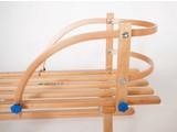 Rugleuning houten slee
