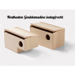 Nesting boxes for gouldian