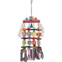 Nobby Papageien Spielzeug Holz und Seil (2)