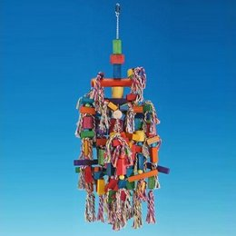 Nobby Parrot toy wood and rope 4