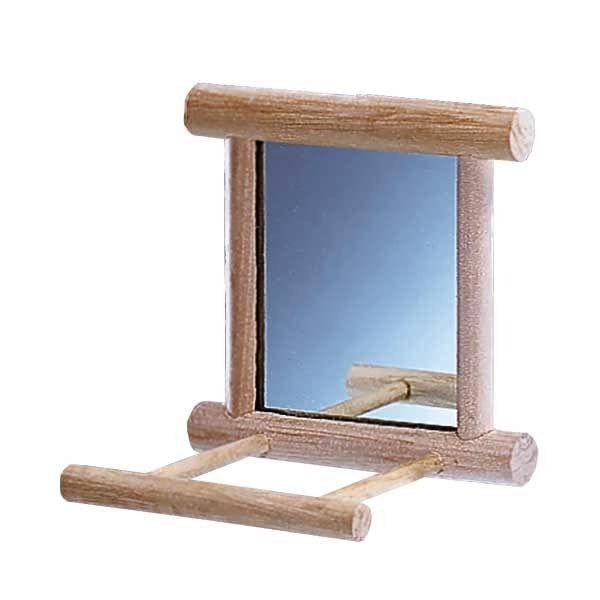 Houten spiegel met landingsplaats for Houten spiegel