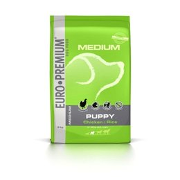 Euro Premium Medium Puppy Kip en Rijst