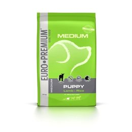 Euro Premium Medium Puppy Lam en Rijst