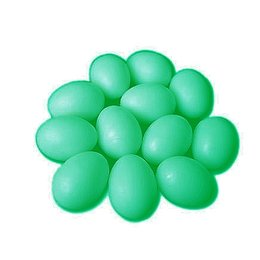 Kunstei plastic kanarie (groen)