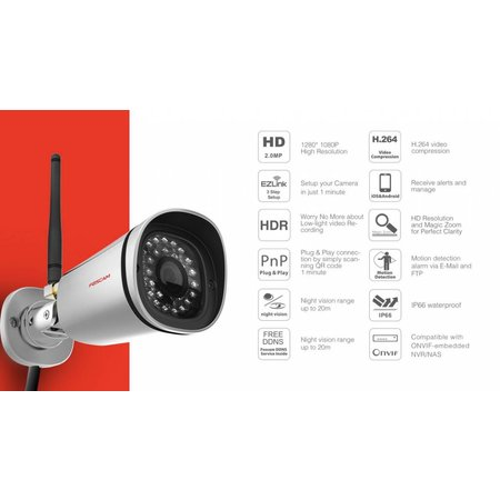 Foscam FI9900P Full HD 2MP IP-Kamera