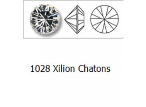 1028 Swarovski Chaton Pointed Back (foiled) SS39 - Smoked Topaz