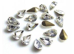 4300 Swarovski Pearshape (foiled) - Crystal