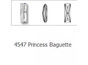 4547 Swarovski Princess Baguette (foiled) - Burgundy