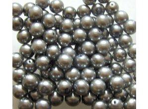 Glas Parels 8 mm - Steel