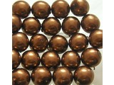 Glass Pearls 12 mm - Bronze