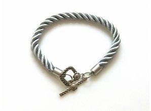 Armband Koord - Zilvergrijs