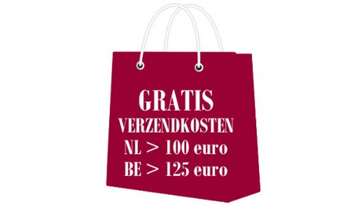 GRATIS Verzendkosten binnen Nederland bij een bestelling vanaf 100 euro en GRATIS Verzendkosten binnen Belgie bij een bestelling vanaf 125 euro