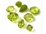 Assorted Plastic Beads - Green