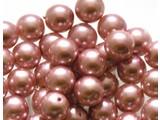 Glas Parels 10 mm - Pink