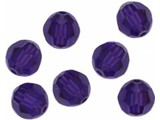 5000 Swarovski Faceted Round Beads - Purple Velvet