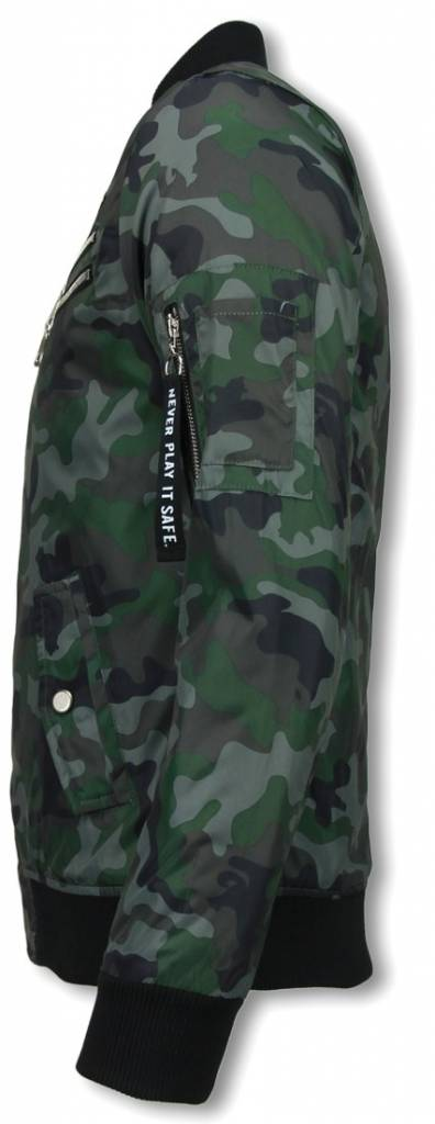 Belman Casual Jack - Camouflage Print Met 3 Ritsen - Groen