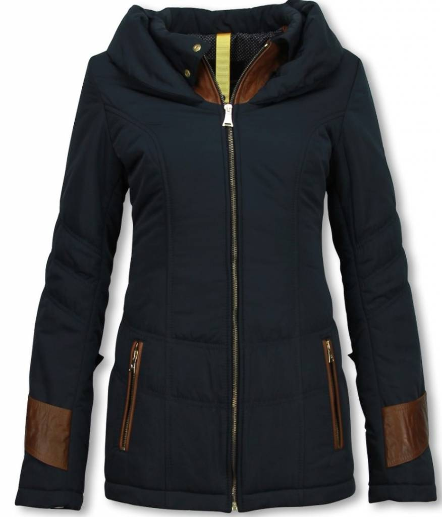 Milan Ferronetti Winterjassen - Dames Winterjas Halflang - Regular Slim - Fit Edition - Blauw