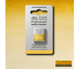 Winsor & Newton aquarelverf 1/2napje s1 yellow ochre light 745