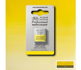 Winsor & Newton aquarelverf 1/2napje s1 winsor yellow 730