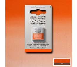 Winsor & Newton aquarelverf 1/2napje s1 winsor orange red shade 723