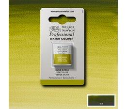 Winsor & Newton aquarelverf 1/2napje s1 olive green 447