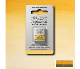 Winsor & Newton aquarelverf 1/2napje s1 naples yellow deep 425