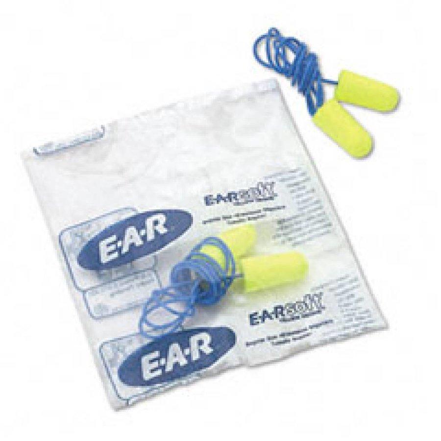 Soft Yellow Neon oordopjes met koordje | SNR 36dB | Box 200 paar