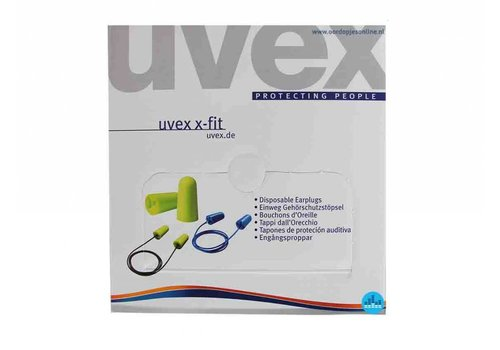 Uvex X-Fit met koord | 100 paar dispenserbox