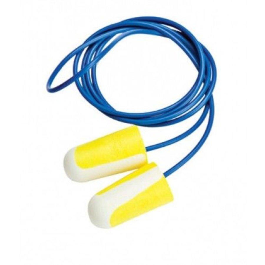 304 L oordopjes met koord | 100 paar SNR 33dB