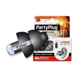 Alpine Partyplug Zwart met Alpine Miniboxx opbergkoker