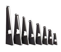 Kartonnen ezeltje/steuntje, zwart met plakstrip 18cm. 25 stuks