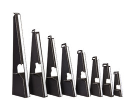 Kartonnen ezeltje/steuntje, zwart met plakstrip 63cm. 25 stuks