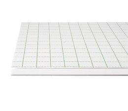 Foamboard zelfkl.wit, formaat 29,7x42cm A3, dikte 5mm. 10vel