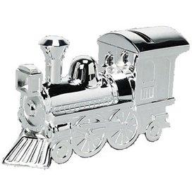 Spaarpot verzilverd lokomotief