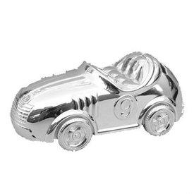 Spaarpot verzilverd Race auto klein