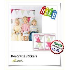 Kinderkamer vlaggetjes decoratie stickers