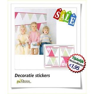 Uitverkoop SALE Kinderkamer Vlaggen muurdecoratie stickers