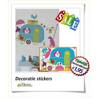 Uitverkoop SALE Caravan herbruikbare kinderkamer decoratie stickers