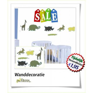 Uitverkoop SALE Happy jungle dieren decoratie set 24 stuks National Geographic foam